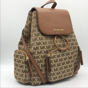 MICHAEL KORS ABBEY LG CARGO BACKPACK BG/EB/LUGH
